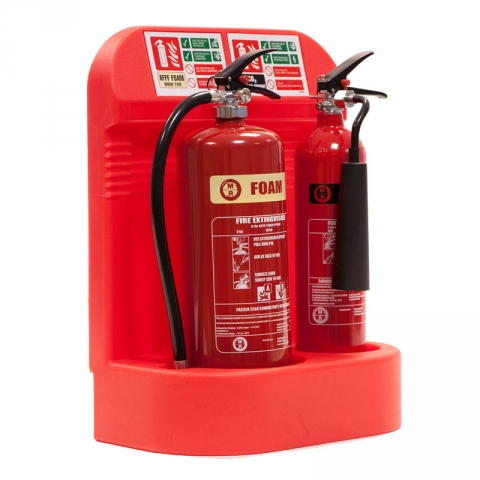 Fire Extinguisher Stand Recessed Base Double