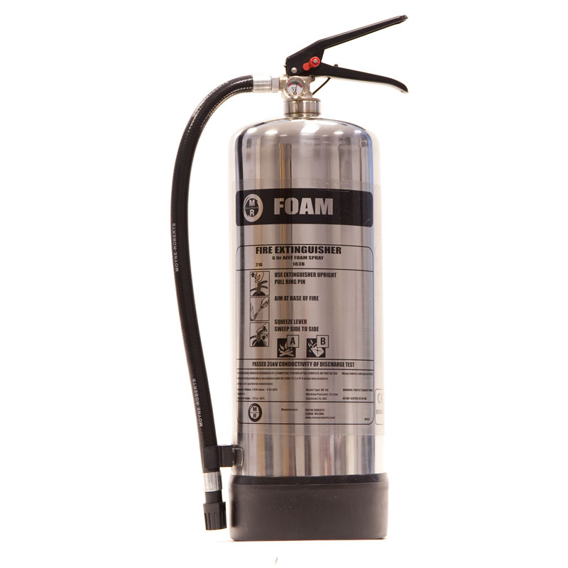 Foam Fire Extinguisher Stainless Steel 6 Litre
